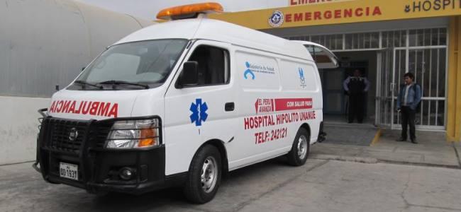 Ambulancias de hospital circulan sin tener SOAT