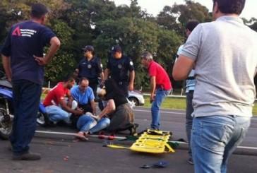 Mulher sofre acidente em rodovia de Nova Odessa SP