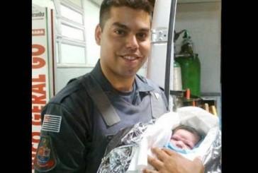 Jovem soldado da Polícia Militar se emociona ao realizar parto
