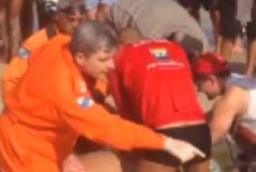 Rescate a un ahogado en las playas de Ipanema