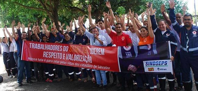 SAMU, servidores entram em greve por tempo indeterminado