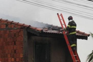 Incêndio atinge residência no interior de São Paulo