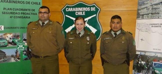 Chile: Carabinero salvó de la muerte a un bebé que se ahogó con leche materna