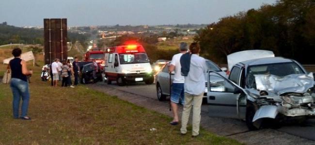 Acidente deixa 6 feridos em rodovia de Piracicaba SP