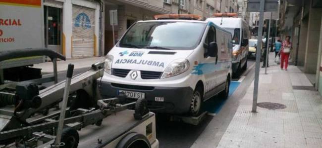 Falsas ambulancias confiscados en Pontevedra