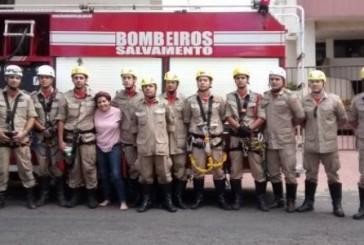 Salvamento em altura: Bombeiros de Goiás resgatam trabalhadores