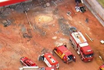Desabamento em galpão deixa feridos em Guarulhos