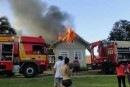 Bombeiros trabalharam por 5 horas para conter incêndio em SC