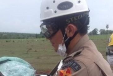 Bombeiros de Goiás atuam em grave acidente na BR 070