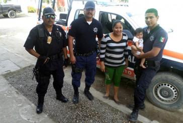 Bebé de 9 meses sobrevive con ayuda de policías
