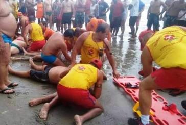 Quatro banhistas morrem ao serem atingidos por raio no litoral de SP