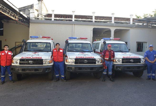 Cruz Roja Paraguaya cuenta  tres nuevas unidades