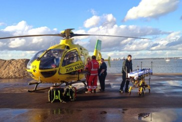 L'hélicoptère de la sécurité civile intervient dans un accident