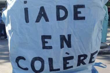 22 mars: grève des IADE
