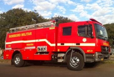Bombeiros da Paraíba recebem novas viaturas de combate a incêndio
