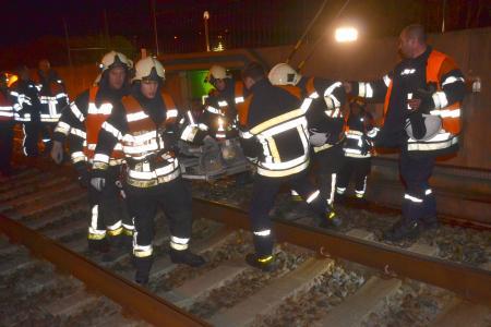 Exercice catastrophe avec déraillement d'un train