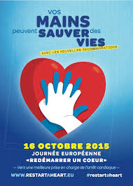 16 octobre 2015: journée européenne «redemarrer un coeur»!