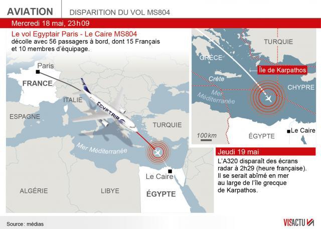 Crash d'Egyptair : localisée l'épave de l'avion