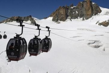 Mont-Blanc: remise en route du téléphérique bloqué