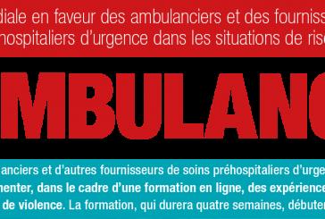 Rejoignez le cours #Ambulance! ; lancement le 3 Octobre 2016