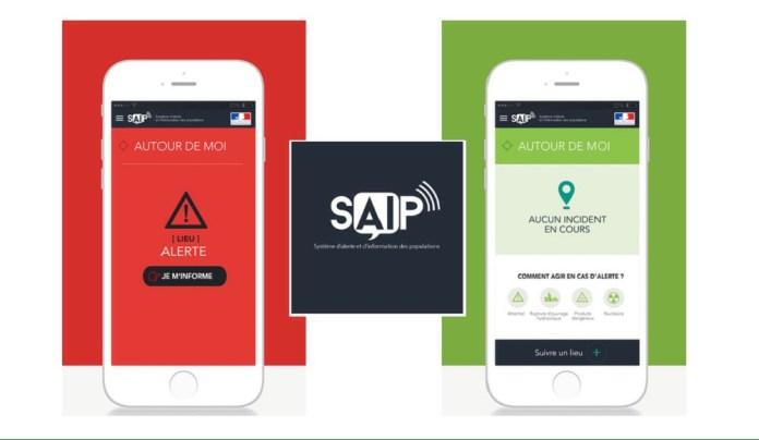 SAIP: prévenir la population d'un attentat avec une application