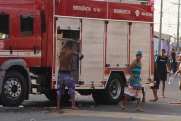 Vândalos destroem viatura dos Bombeiros no interior de São Paulo