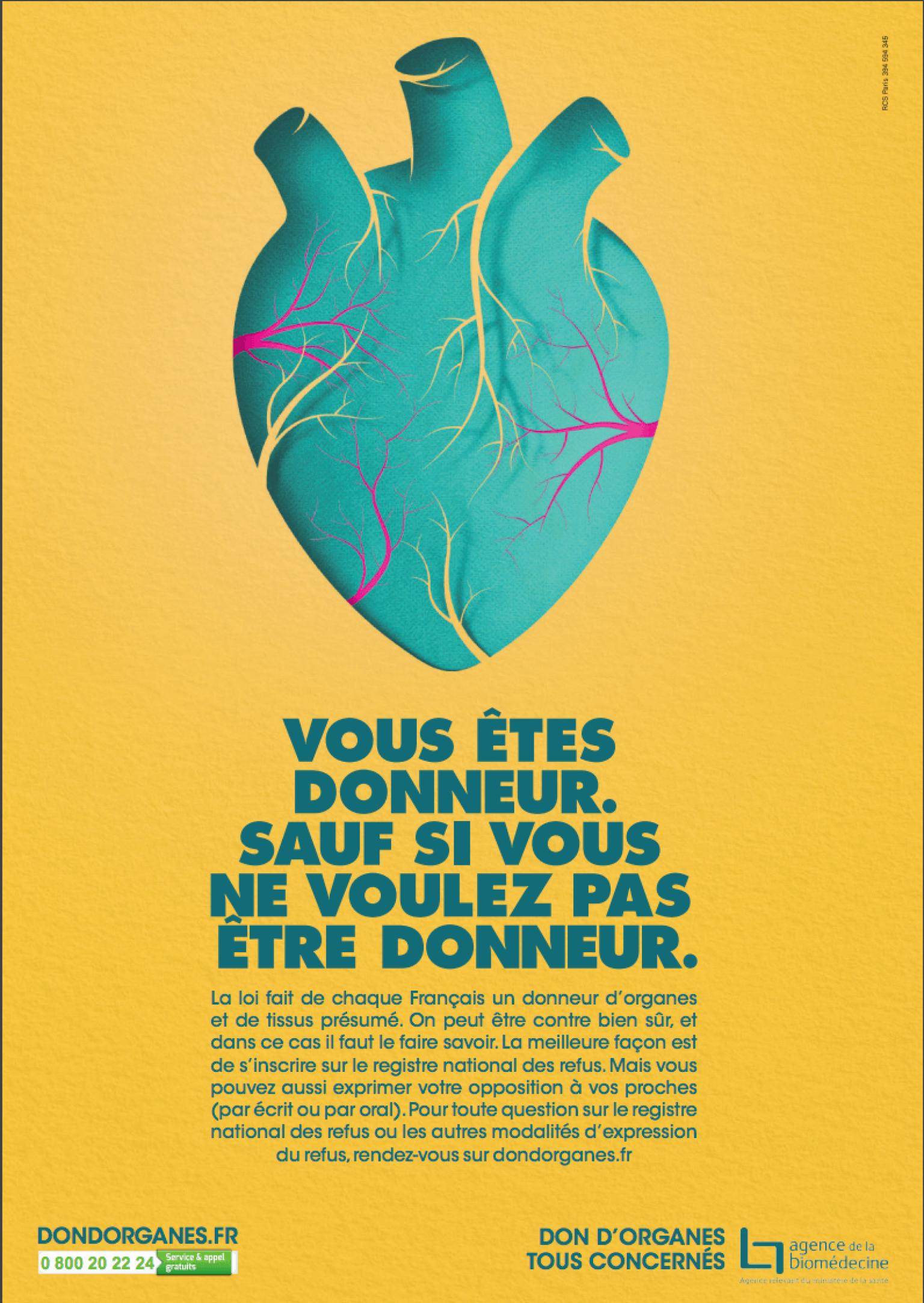 Don d'organes : du 1er janvier 2017 on est tous présumés donneurs