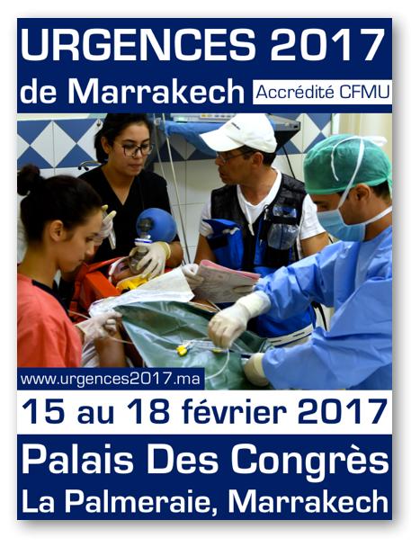 Congrès Urgences 2017: Marrakech du 15 au 18 février 2017