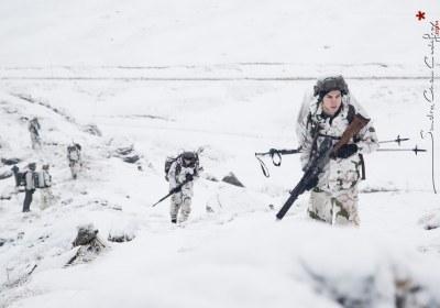 Ascension de chasseurs alpins lors de l'exercice Cerces