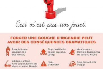 Campagne contre l'ouverture sauvage de bouches d'incendie