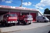 Los Bomberos Voluntarios de Mar del Tuyú con ambulancia nueva