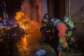 Intervention pompiers pour une fuite de gaz enflammée