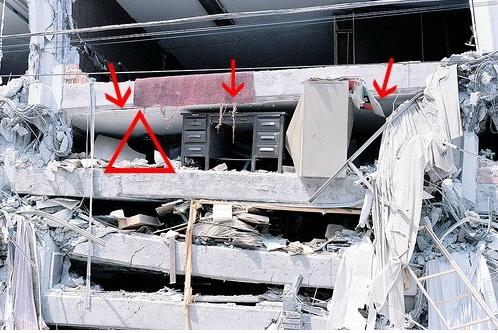 """Sopravvivere ad un terremoto: la teoria del """"triangolo della vita"""""""