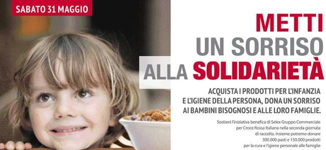 Selex sorride alla solidarietà con la Croce Rossa
