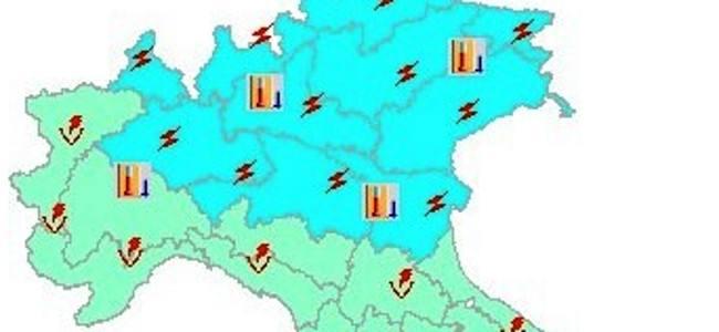 Allerta meteo della Protezione Civile a partire dal Veneto