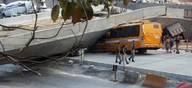 Crolla viadotto a Belo Horizonte: Era stato costuito per i mondiali