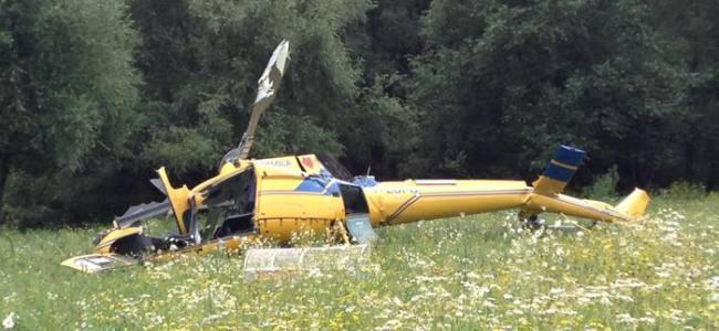 Cade elicottero antincendio a Rieti, morti i due piloti