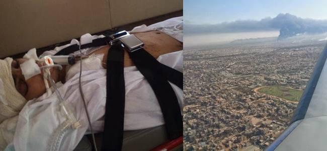 Libia: l'evacuazione dei feriti grazie a una compagnia italiana