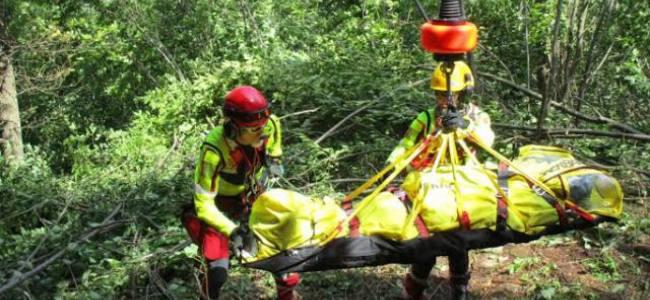Recupero dei feriti dopo un incidente aereo, la fotogallery