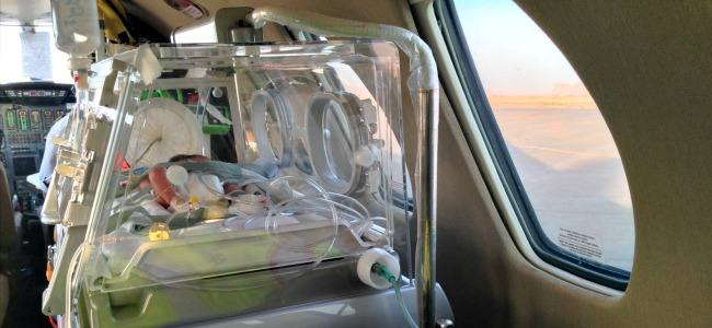 Aspetti clinici e logistici del trasporto aereo di un paziente pediatrico con grave insufficienza respiratoria