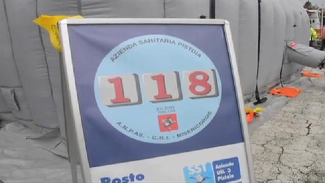 Esercitazione 118 in Toscana, prova superata
