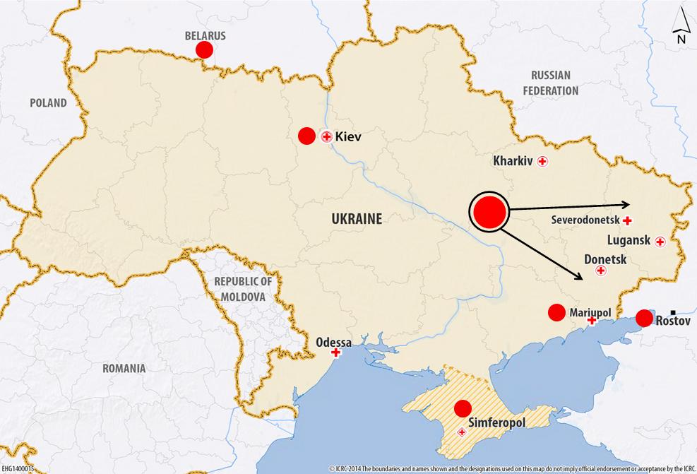 Crisi ucraina: l'impegno della Croce Rossa