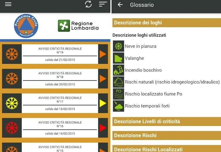 Protezione Civile Lombardia, arriva l'app per essere sempre informati