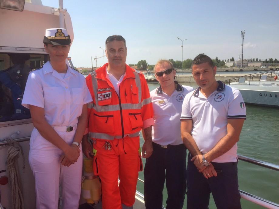 Le emergenze in mare:  collaborazione tra 118, Guardia Costiera e i bagnini di salvataggio
