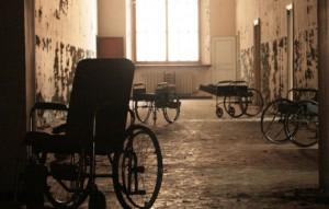 interno dell'ex ospedale psichiatrico di Colorno