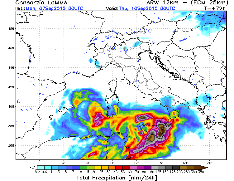 Maltempo: allerta per forti temporali su Sicilia e sulle regioni meridionali