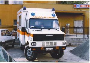 Fig. 12) lo stesso Bremach terminato e consegnato alla Croce Bianca di Massa per il soccorso cave- foto Alberto Di Grazia