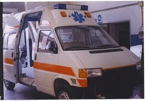 Volkswagen T4 in allestimento per una Pubblica Assistenza della provincia di Belluno- foto Alberto Di Grazia