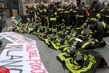 Vigili del Fuoco: protesta a Milano