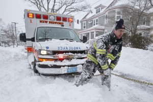 winter wather ambulance